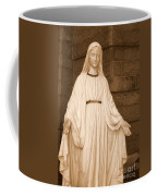Statue Of Mary At Sacred Heart In Tampa Coffee Mug
