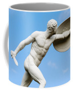 Statue Of Nude Man With Shield And Dagger Coffee Mug