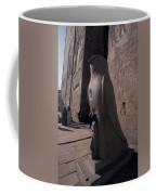 Statue Of The Bird God, Horus Coffee Mug by Richard Nowitz