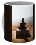 Statue On The Beach Coffee Mug