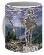 Statue On The Rocks  Coffee Mug