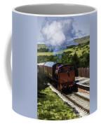 Steam Train 2 Oil Painting Effect Coffee Mug