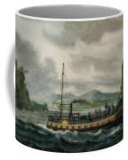 Steamboat Travel On The Hudson River Coffee Mug