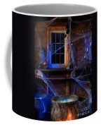 Steaming Cauldron In A Witch Cabin Coffee Mug