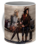 Steampunk - Time Travelers Coffee Mug by Mike Savad