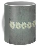 Steely Gray Rustic Flower Row Coffee Mug
