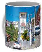 Steep Streets Up The Hills In Valparaiso-chile   Coffee Mug