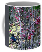 Stellar Jay In Crab Apples Coffee Mug