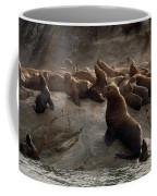 Stellers Sea Lions Eumetopias Jubatus Coffee Mug