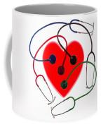 Stethoscopes And Plastic Heart Coffee Mug