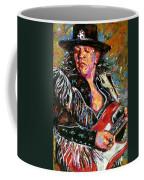 Stevie Ray Red Guitar Coffee Mug
