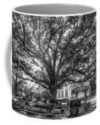 Still Faithful B W God Bethany Presbyterian Church The Old Oak Tree Greene County Georgia Art Coffee Mug