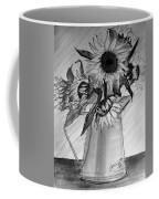 Still Life - 6 Sunflowers In A Jug Coffee Mug