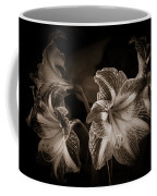 Still. Life. Colorless. Flowers. Coffee Mug