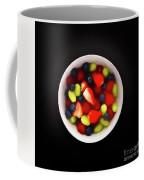 Still Life Of A Bowl Of Fresh Fruit Salad. Coffee Mug