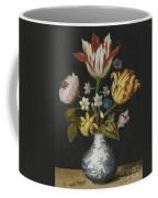 Still Life Of Flowers In A Wan-li Vase Coffee Mug