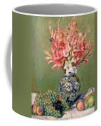 Still Life Of Fruits And Flowers Coffee Mug