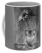 Still Life - Vase With One Sunflower Coffee Mug