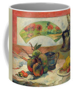 Still Life With A Fan Coffee Mug by Paul Gauguin