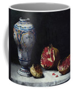 Still Life With A Pomegranate Coffee Mug by Auguste Theodule Ribot