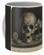 Still Life With A Skull And A Vase Of Roses Coffee Mug