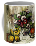 Still Life With Anemones And Fruit Coffee Mug