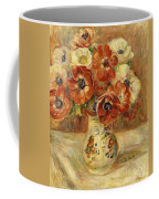 Still Life With Anemones  Coffee Mug by Pierre Auguste Renoir