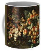Still Life With Apples And Grapes Coffee Mug