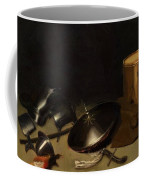 Still Life With Armor Shield Halberd Sword Leather Jacket And Drum Coffee Mug