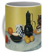 Still Life With Blue Enamel Coffeepot, Earthenware And Fruit, 1888 Coffee Mug