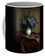 Still Life With Bouqet Of Fresh Lilac Coffee Mug