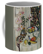Still Life With Daisies And Fruit Coffee Mug