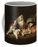 Still Life With Fishes, A Crab And Oysters Coffee Mug