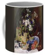 Still Life With Flowers And Fruit Coffee Mug