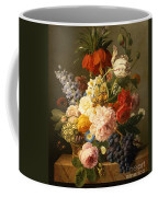 Still Life With Flowers And Fruit Coffee Mug by Jan Frans van Dael