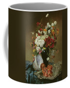 Still Life With Flowers And Pomegranates Coffee Mug
