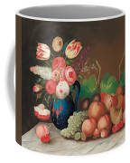 Still Life With Fruit And Flowers Coffee Mug by William Buelow Gould