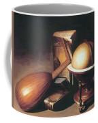 Still Life With Globe Lute And Books Coffee Mug