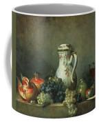 Still Life With Grapes And Pomegranates Coffee Mug by Jean-Baptiste Simeon Chardin