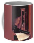 Still Life With Hourglass Pencase And Print Coffee Mug