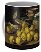 Still Life With Lemons And A Pot Of Honey Coffee Mug