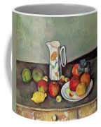 Still Life With Milkjug And Fruit Coffee Mug by Paul Cezanne