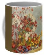 Still Life With Pink Flowers Coffee Mug
