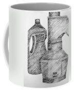 Still Life With Popcorn Maker And Laundry Soap Bottle Coffee Mug