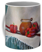Still Life With Red Peppers Coffee Mug