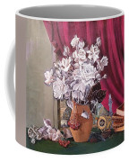 Still Life With Roses And Books Coffee Mug