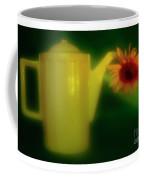 Still Life With Sunflower And Coffee Pot. Coffee Mug