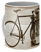 Still Life With Trek Bike In Sepia Coffee Mug