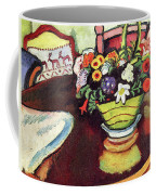 Still Life With Venison And Ostrich Pillow By August Macke Coffee Mug