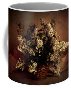 Still Life With White Flowers In The Basket Coffee Mug